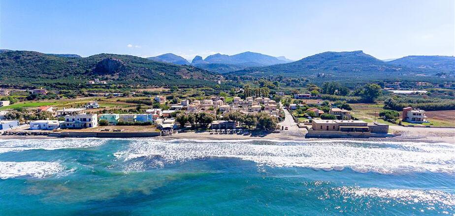 Westkreta Ferienhäuser direkt am Meer nahe der Stadt Kastelli