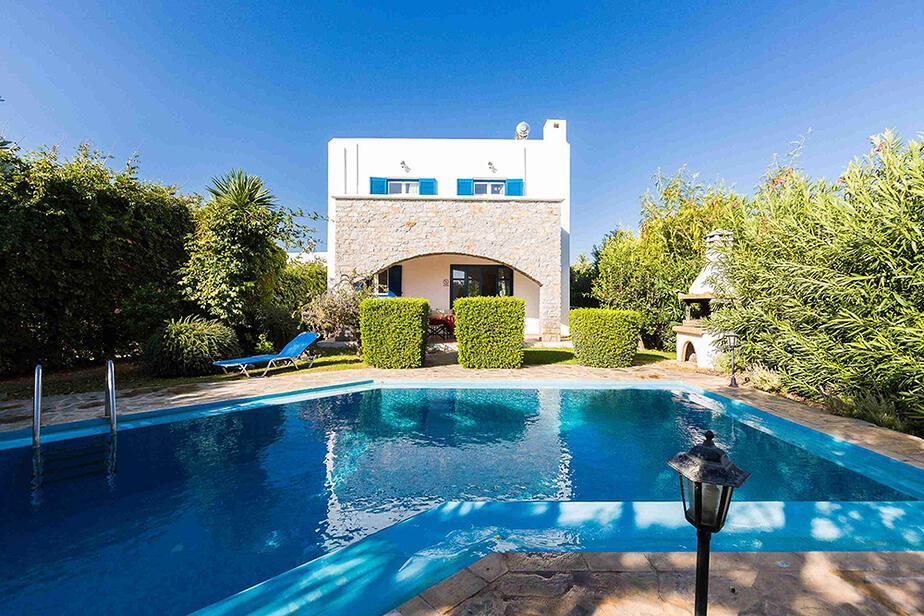 Villa Irini Rethymnon. 3 Schlafzimmer privater Pool nahe Rethymnon. Buchen bei kreta.com