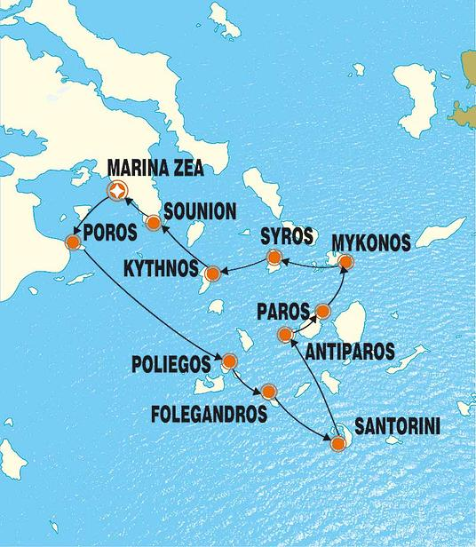 Griechenland Segel-Kreuzfahrt: Juwelen der Kykladen